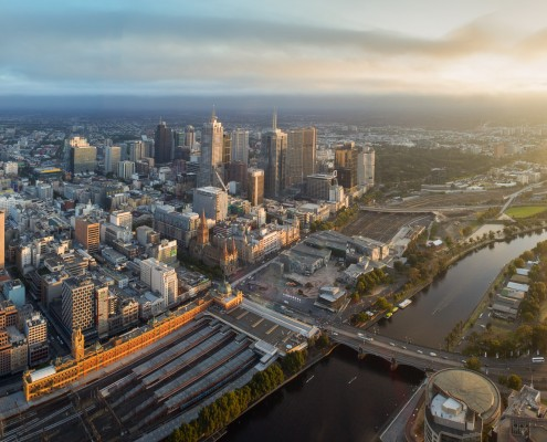 Melbourne City at Sunrise