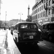 Taxi at Strand Street heading to Trafalgar Square