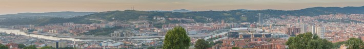 Bilbao city panorama