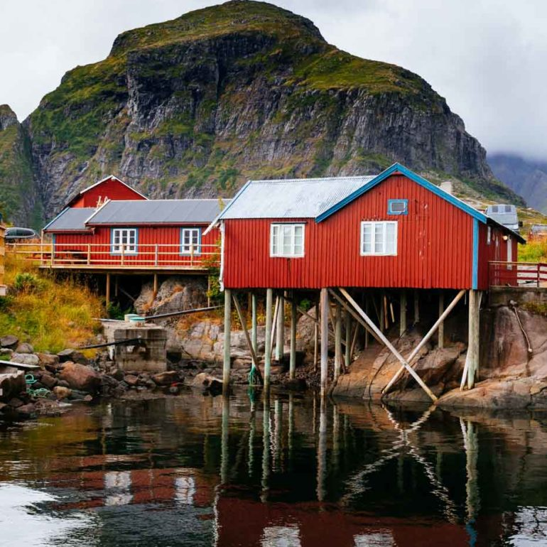 Seaside houses in Å