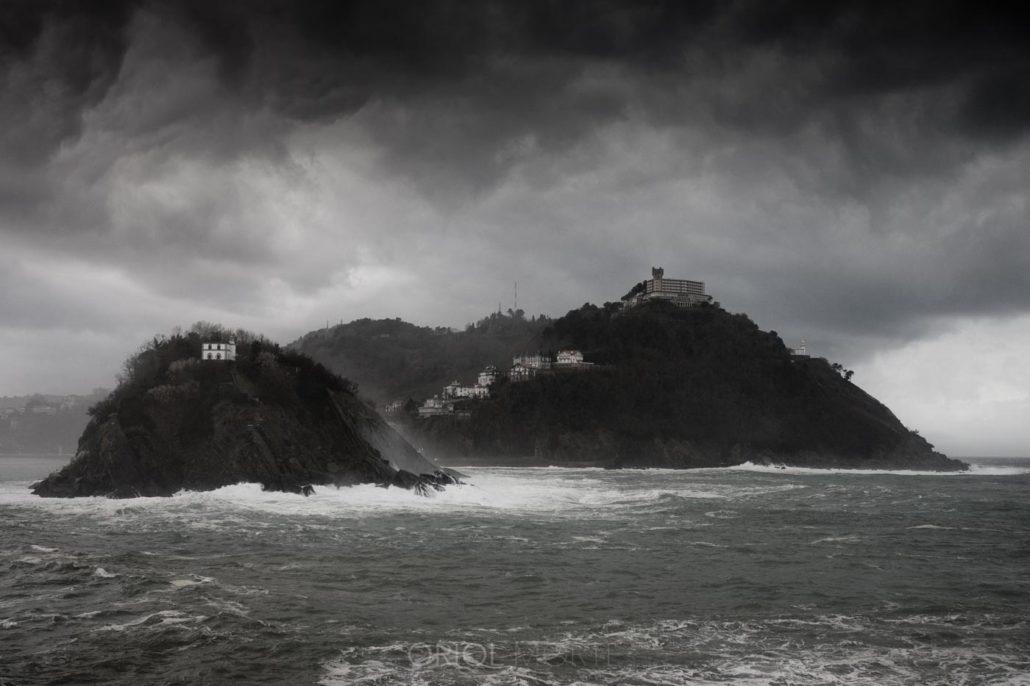 Fotografiar en invierno Isla Santa Clara y Monte Igeldo